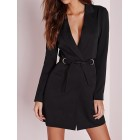 Lapel Shift Solid Pockets Buttoned  Blazers
